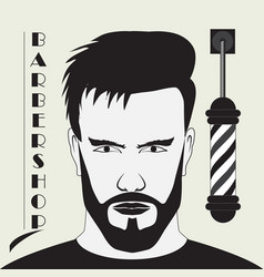 signboard for the hairdresser vector image