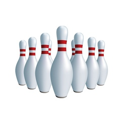 Sports game bowling vector