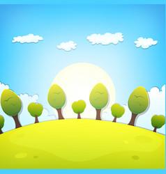 Spring or summer cartoon landscape vector