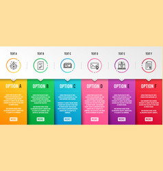 Start business edit document and education icons vector