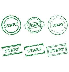 Start stamps vector