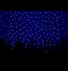 stary night cityscape vector image