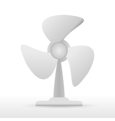 steel fan on white background vector image