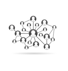 team in social network working concept vector image