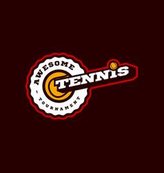 tennis modern professional sport typography vector image