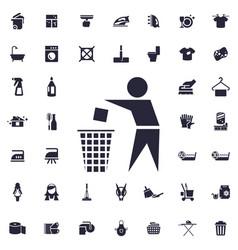 Trash bin icon vector