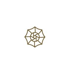 Umbrella camera icon logo designs inspiration vector