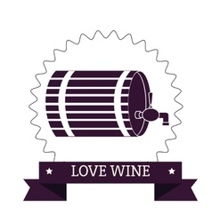 Wine barrel label vector