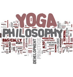 Yoga philosophy text background word cloud concept vector