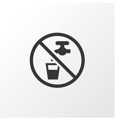 non potable water icon symbol premium quality vector image vector image