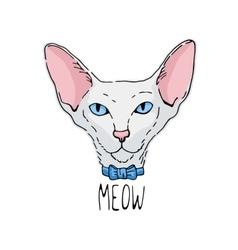 Oriental cat portrait vector image vector image