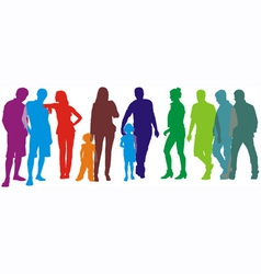 people of group vector image