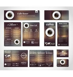 Set coffee corporate identity vector image vector image
