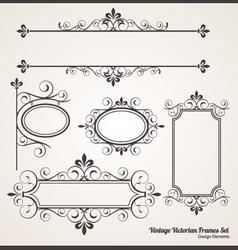Vintage Victorian Frame set vector image vector image
