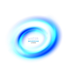 Water swirl background vector image