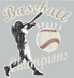 baseball champions vector image vector image