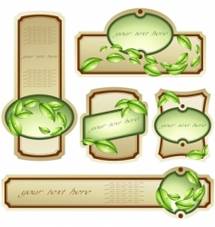 collection of elegant eco labels vector image