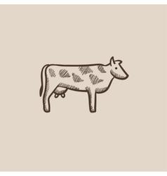 Cow sketch icon vector image