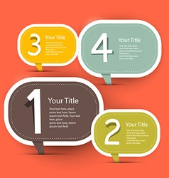 Four Steps Infographic Layout - Template in Retro vector image