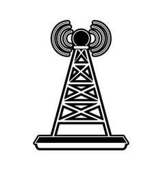 telecommunications antenna symbol vector image