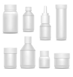realistic template blank white plastic bottle pack vector image vector image