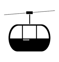 Silhouette sky cable car transport mountain vector