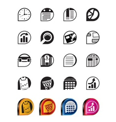simple business and office internet icons vector image vector image