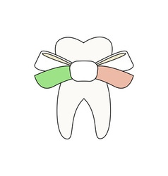 Tooth-With-Bow-380x400 vector image