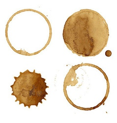 Coffee Stains Collection vector image