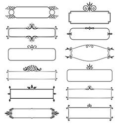 Frame decorative elements set vector image vector image