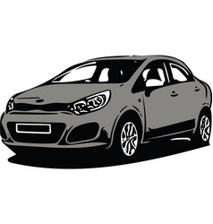 grey sportscar vehicle silhouette vector image