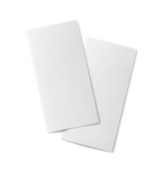 Pair of blank bifold paper brochures vector image vector image