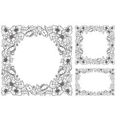 set of Floral borders vector image vector image