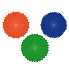 three geometric figures of vector image vector image