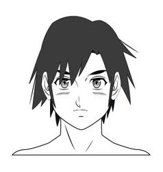 young guy anime boy character manga vector image vector image