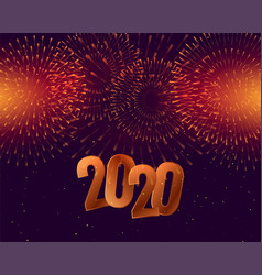 2020 happy new year celebration background with vector image
