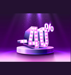 40 off discount creative composition 3d sale vector