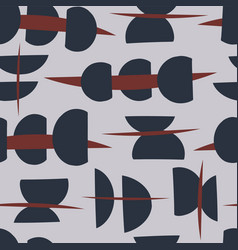 Abstract semi circle grey red and blue vector