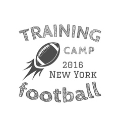 American football training camp logotype emblem vector image