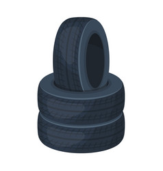 barricade of tirespaintball single icon in vector image
