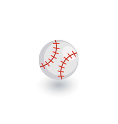 baseball ball isometric flat icon 3d vector image