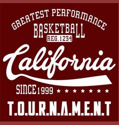 Basketball california vector