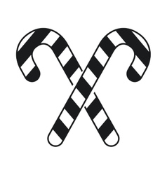 Black and white candy stick crossed new year vector