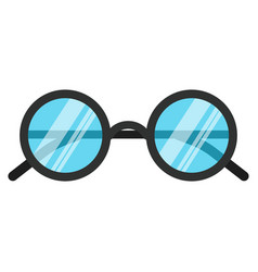 black nerd eye glasses flat design concept vector image