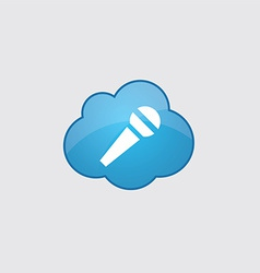 Blue cloud microphone icon vector image