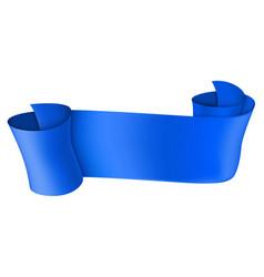 Blue scroll 3d shiny banner vector