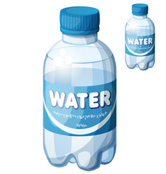 bottle of water cartoon icon isolated vector image