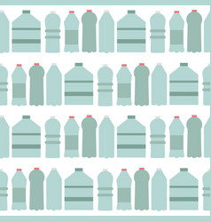 bottle seamless pattern vector image