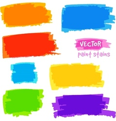 Bright rainbow colors pain spots set vector image