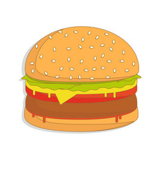 Burger sandwich food icon burger vector